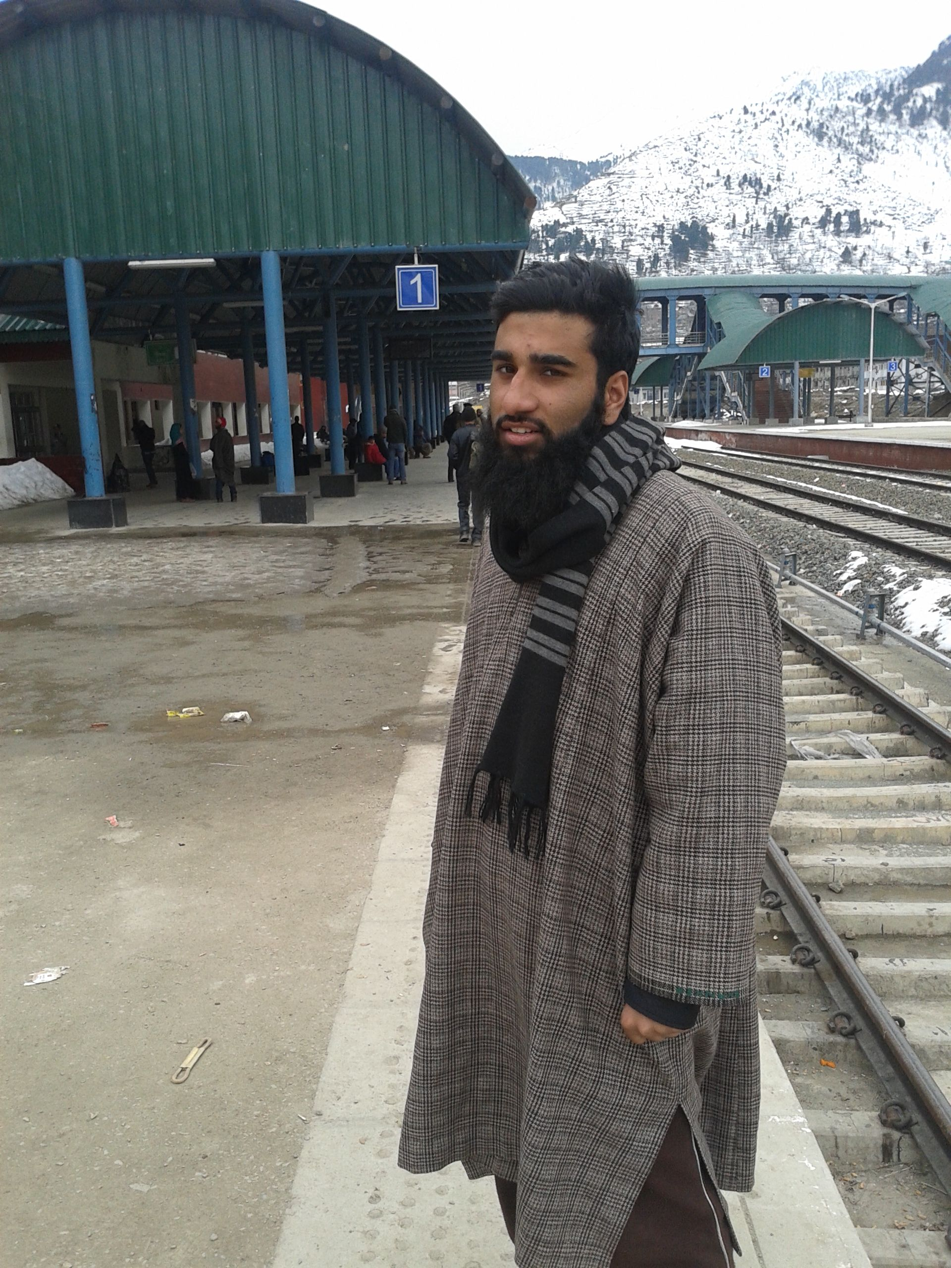 Traditinal winter dress of kashmir