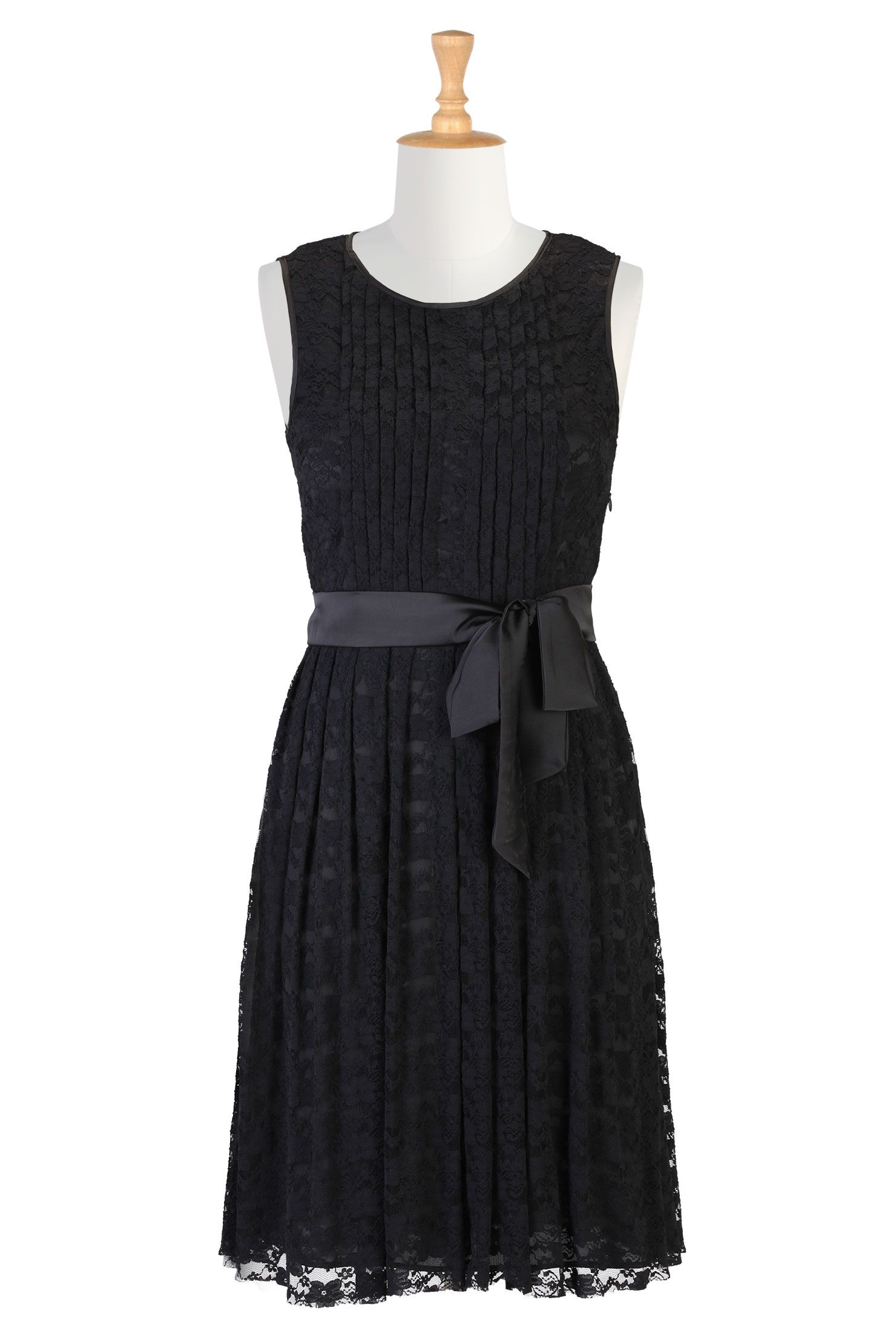 Sash tied floral lace dress pinterest black bridesmaids lbd and