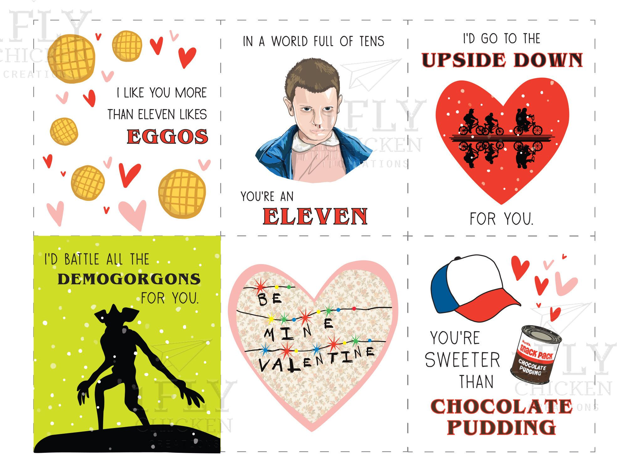 photograph regarding Funny Printable Valentines identified as Stranger Aspects Printable Valentines Working day Playing cards - Humorous