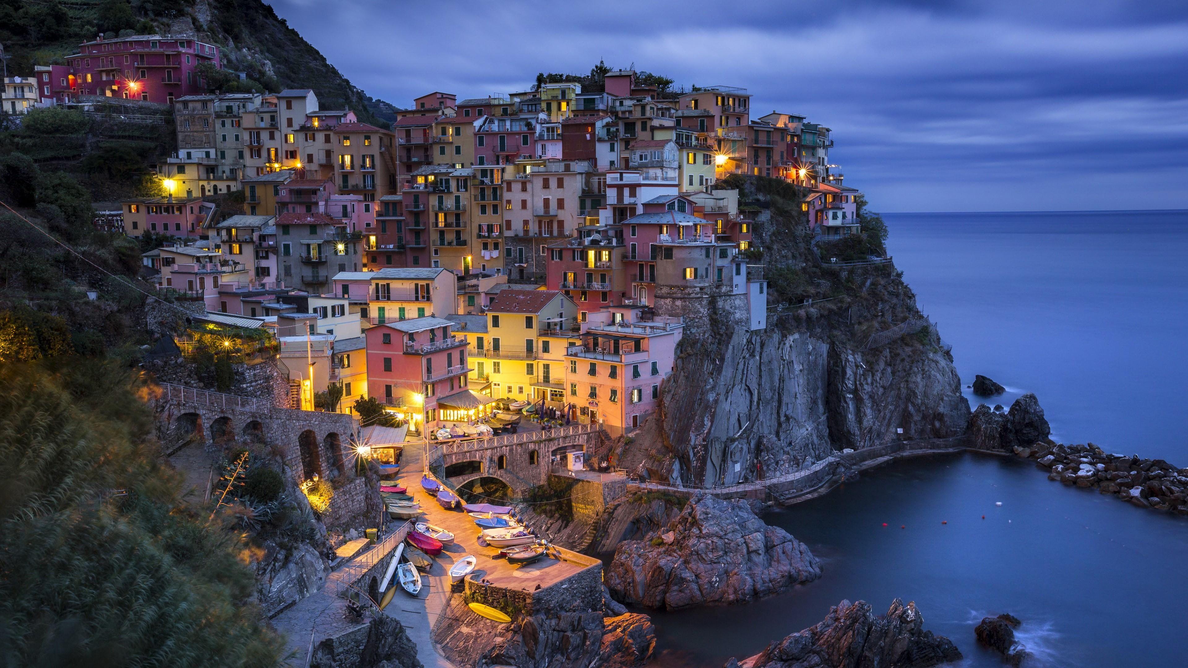 Village Coast Cinque Terre Europe Italy La Spezia Liguria Cliff Sea Landscape Manarola Tourism Cityscape Terrain Ni La Spezia Cinque Terre Tourism