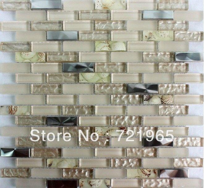 Mattonelle Di Mosaico Di Vetro Argento In Acciaio Inox A Specchio Mosaico  Backsplash Piastrelle Ssmt221 Madre
