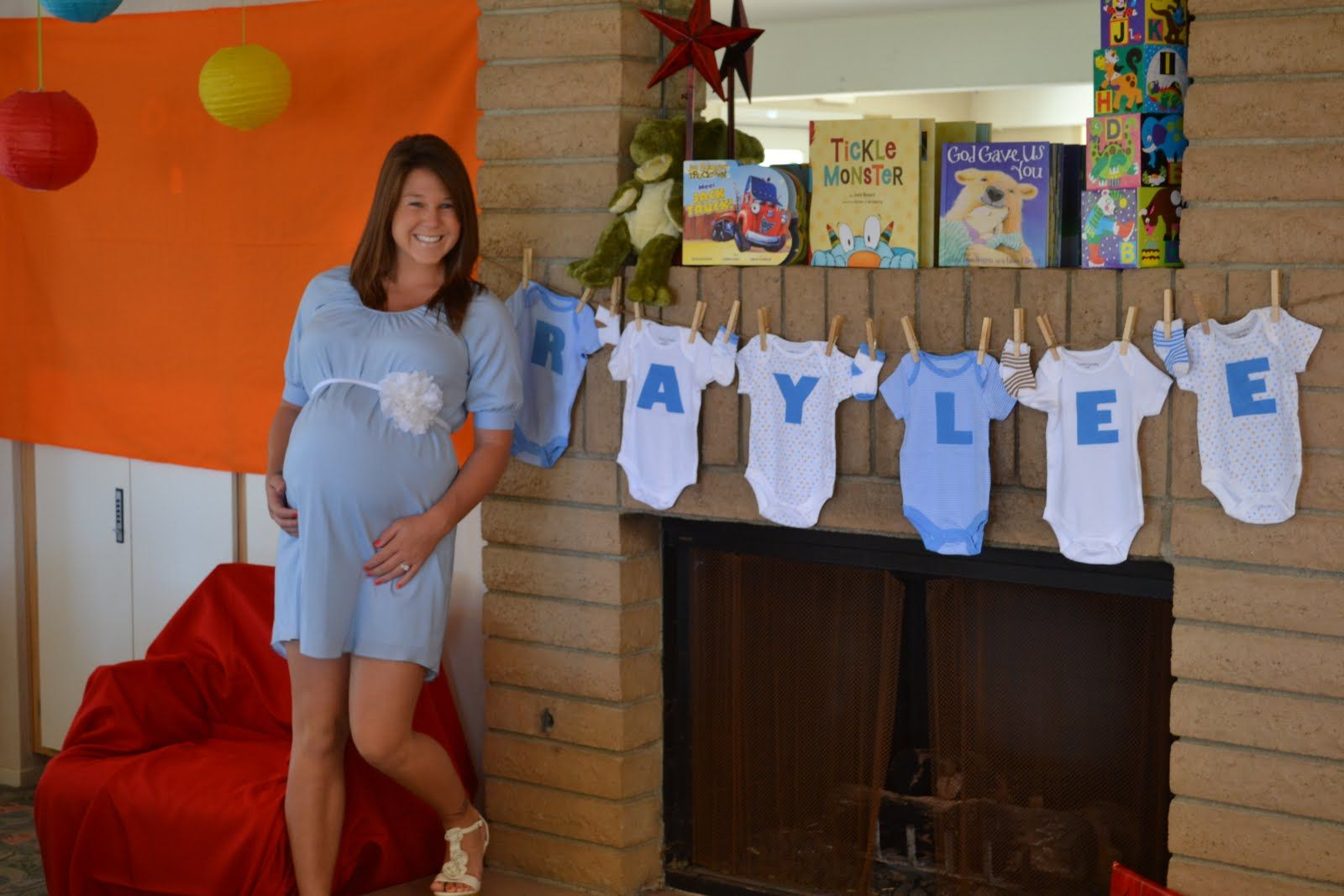 Onesie Banner Cute Baby Shower Idea Party Party Baby Shower