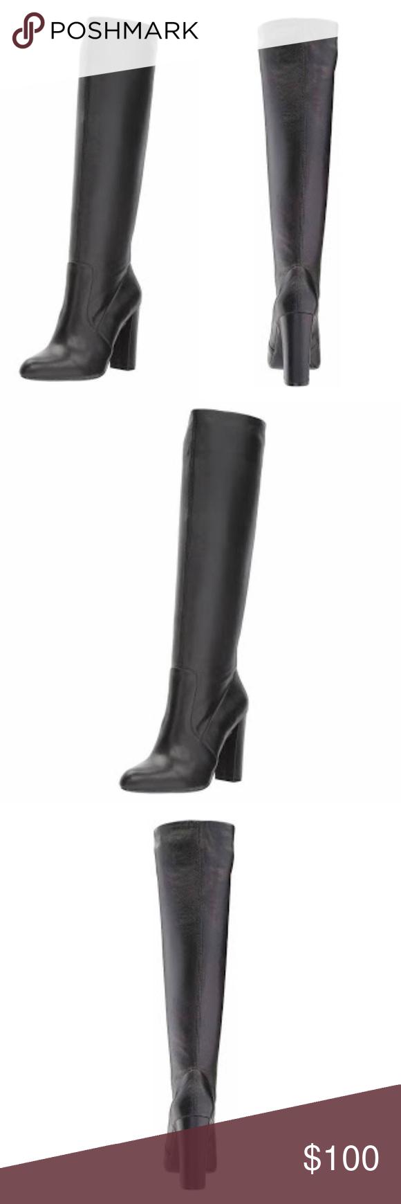 4df333f3e89 🆕STEVE MADDEN Eton Block Heel Leather Boots New without the box Steve  Madden Eton style