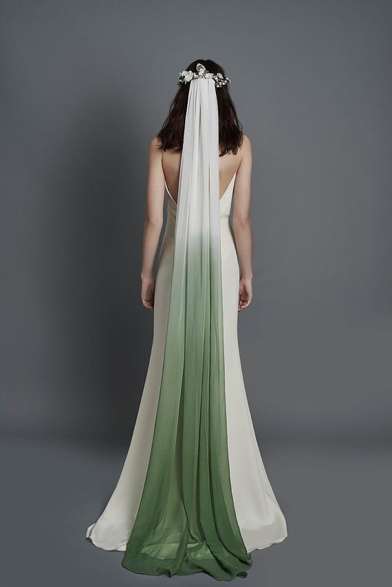 Ombre Silk Veil Dip Dyed Veil Silk Chiffon Veil Chiffon Veil