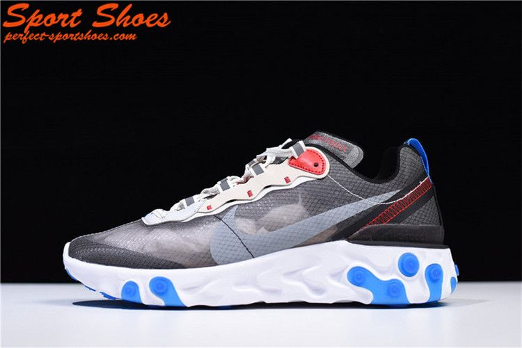 311d0e59dde3 UNDERCOVER x Nike Upcoming React Element 87 Lady Running Shoes AQ1090-003  For Sale Gray White Blue Red