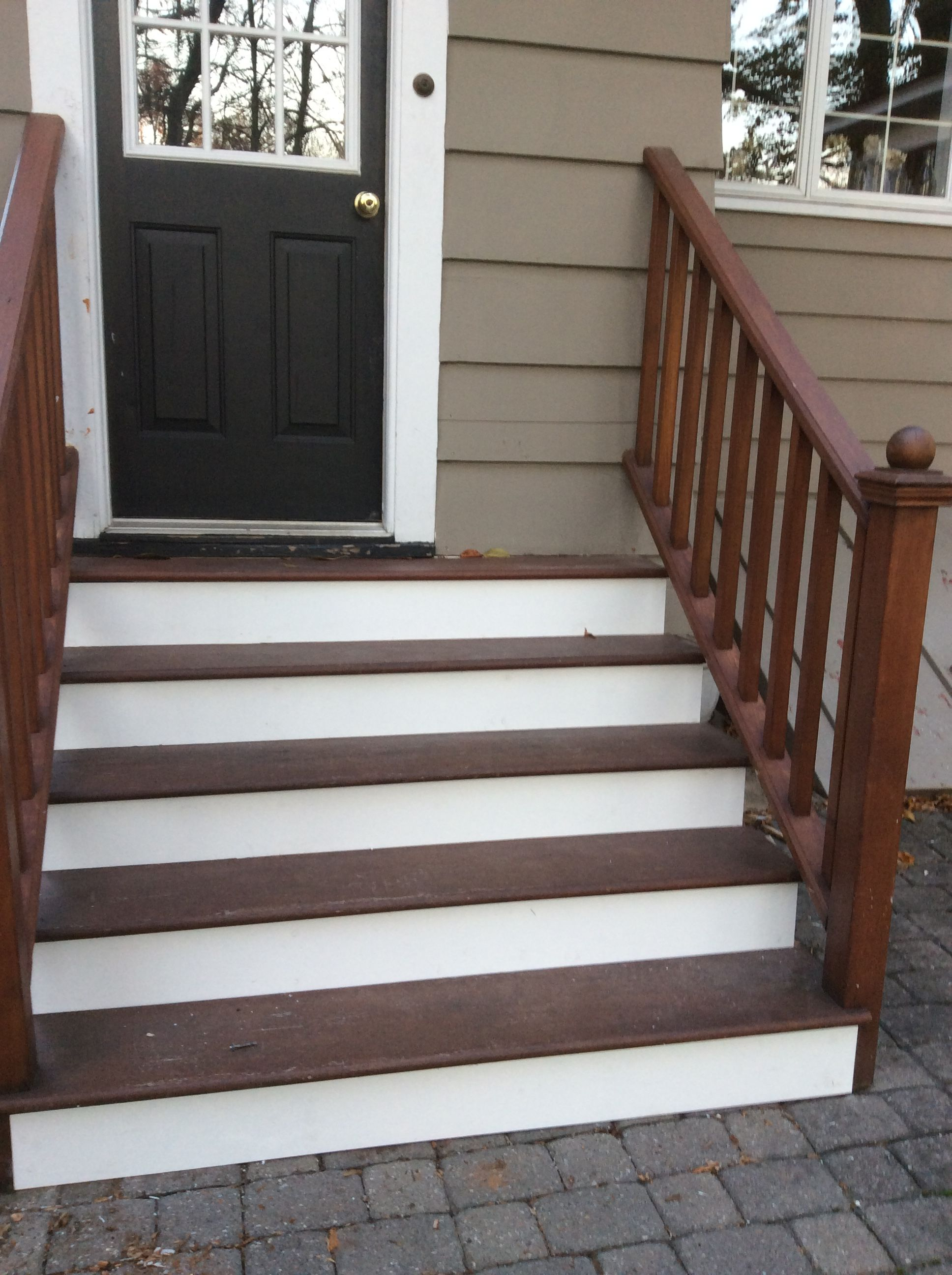 Stair Riser Azek Replacements Westfield Stair Risers Stairs