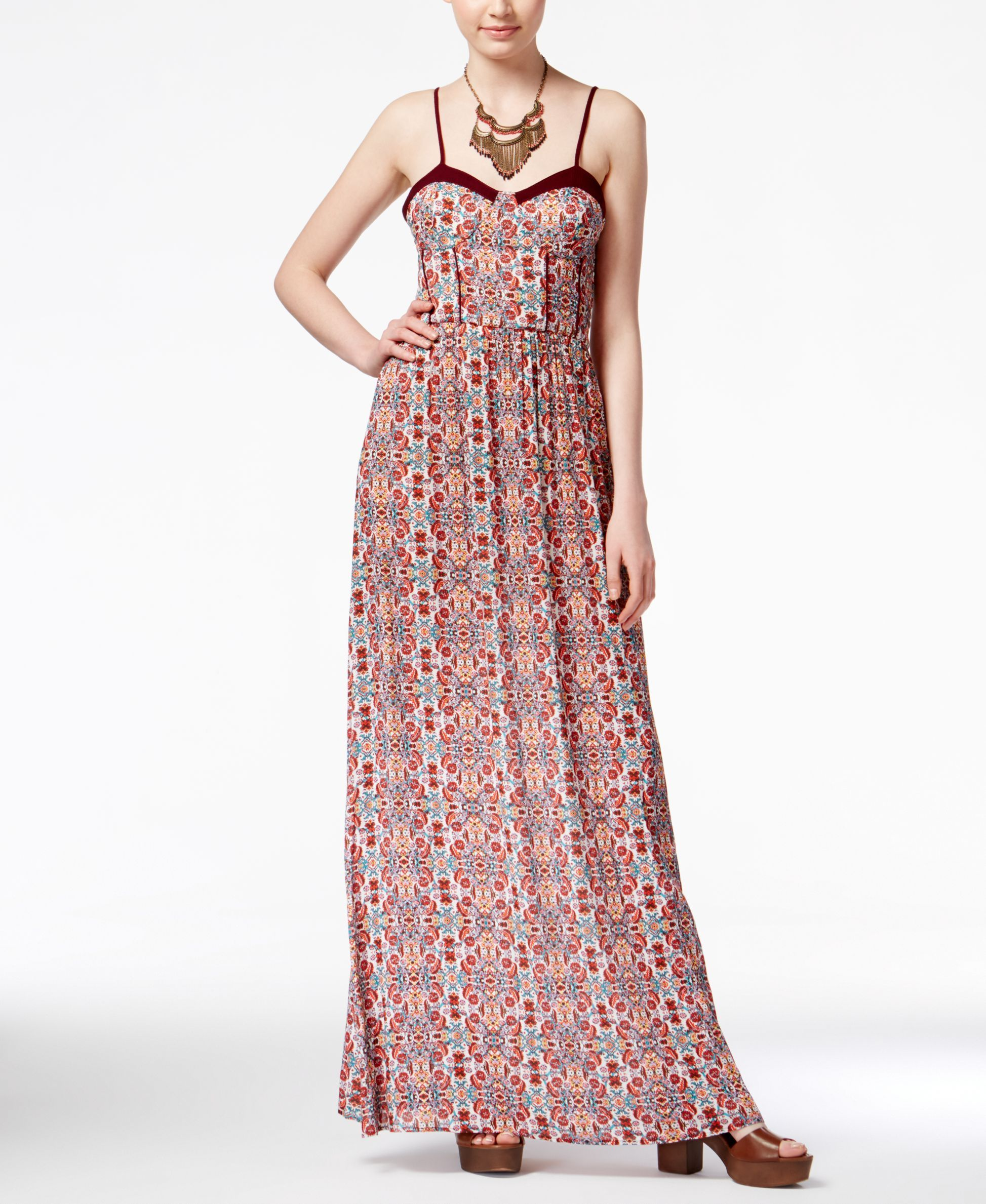 032c8d740894 American Rag Printed Maxi Dress, Only at Macy's | The BBQ Realm ...