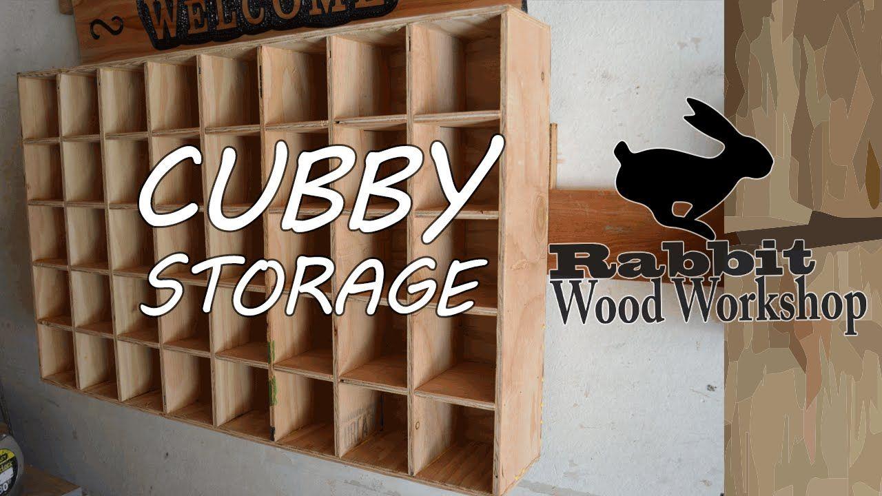 Cubby storage Easy build. YouTube Cubby storage, Diy