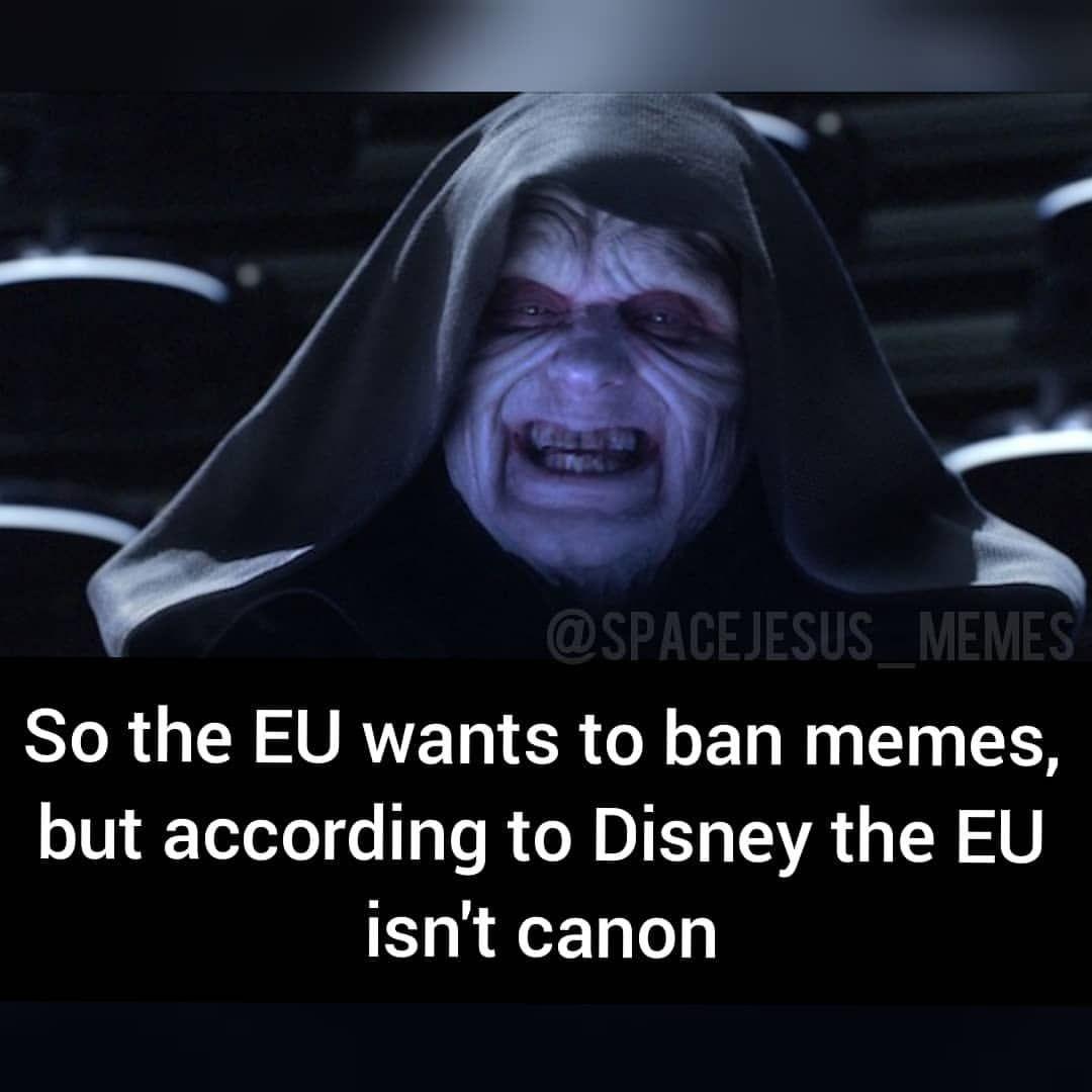 Eu It S Treason Then Eumemeban Eumemewar Article13 Meme Eu Starwarsmemes Prequelmemes Starwarssequels Star Wars Memes Star Wars Humor Star Wars Geek