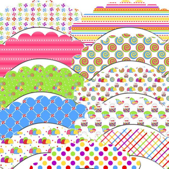 Lollipops and Gum Drops Cupcake Wrappers by outsidetheboxdessert, $10.00