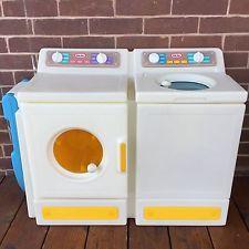 Vintage Little Tikes Washer Dryer Ironing Board Child Size Laundry