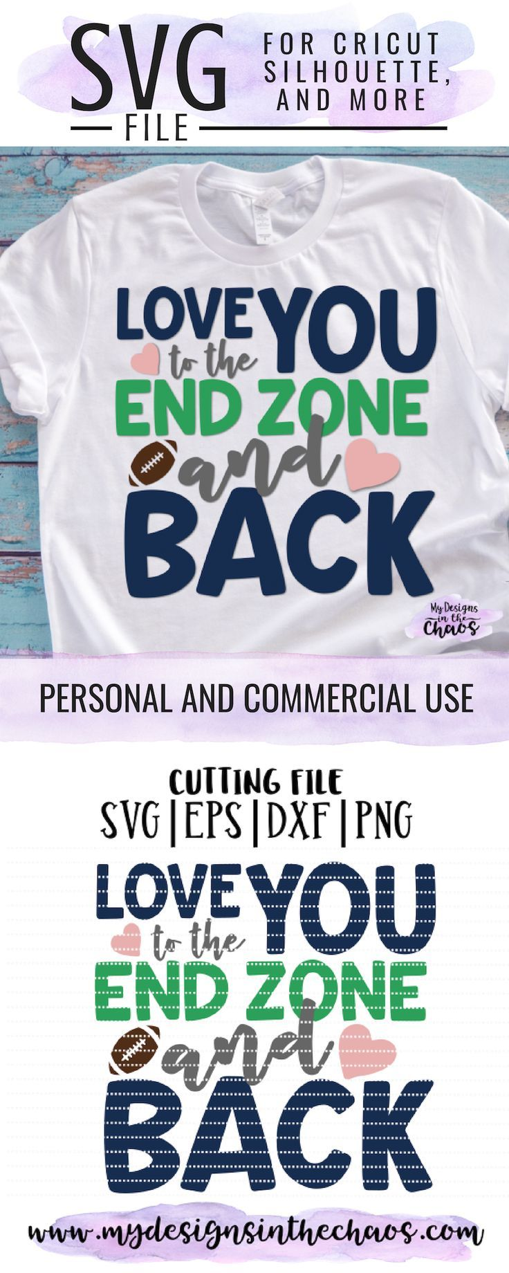 Download Love you to the end zone and back   Cricut, Cricut ...