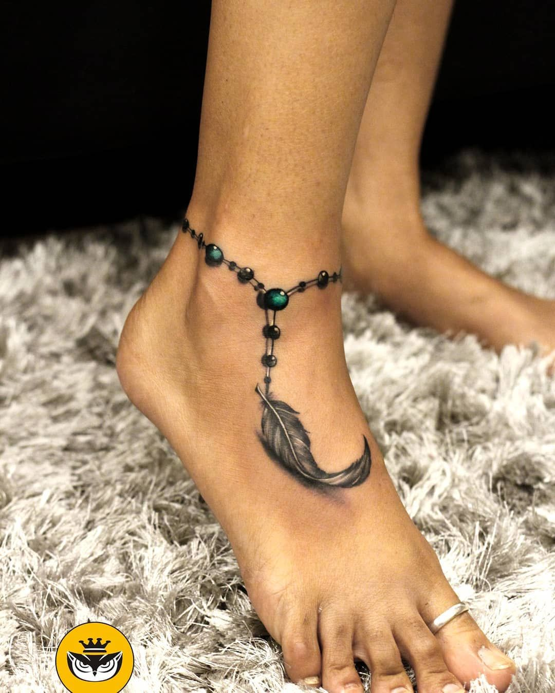 Feather Anklet Tattoo Tattoo Ideas and Inspiration
