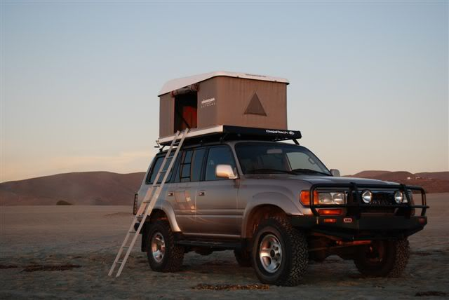 Image detail for -. regular rack with Yakima cross bars and the Maggiolina Roof Top Tent & Toyota Land Cruiser 80 | Off Road | Pinterest | Land cruiser 80 ...