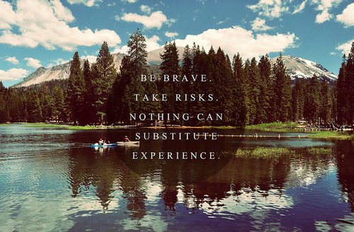 Nothing can substitute experience