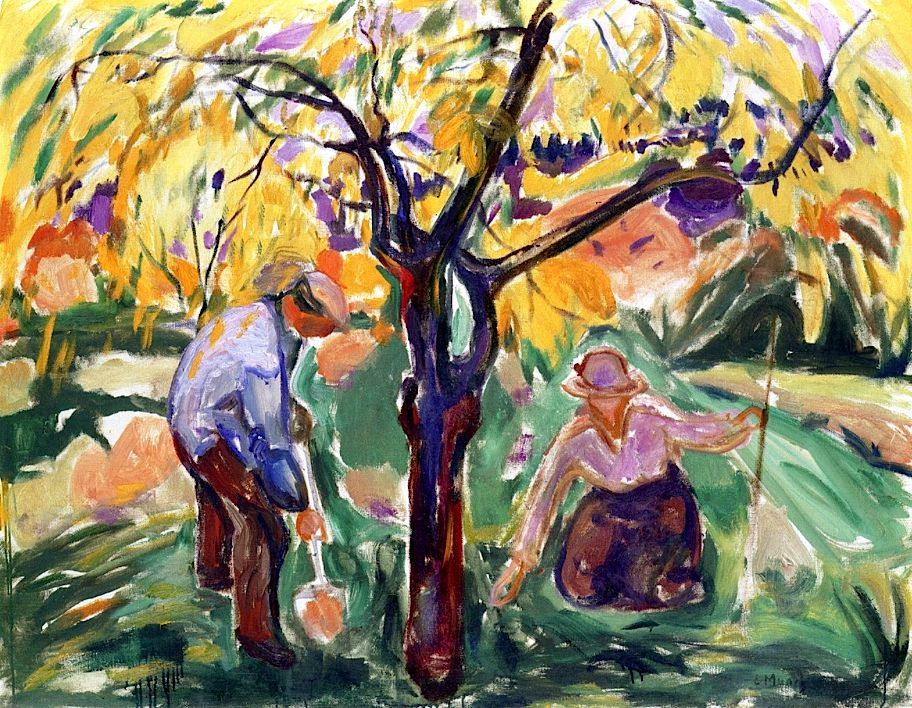 The Apple Tree Edvard Munch - 1921 BTW, Please Check Out This Artist's work:   -- http://universalthroughput.imobileappsys.com/site2/gallery.php