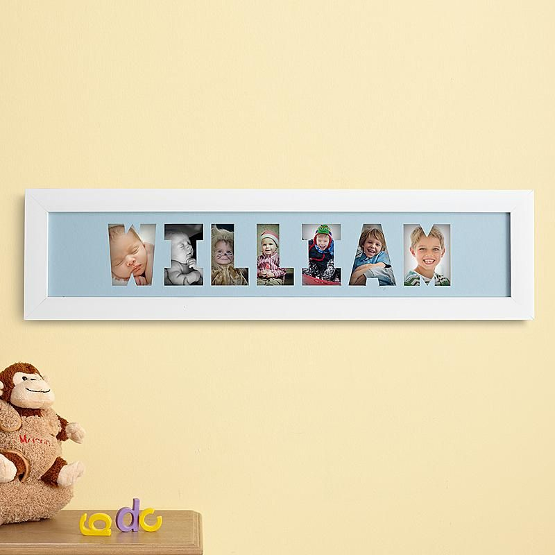 Name frame collage babies craft and crafty display their name and their most cherished photos at the same time we laser their negle Images