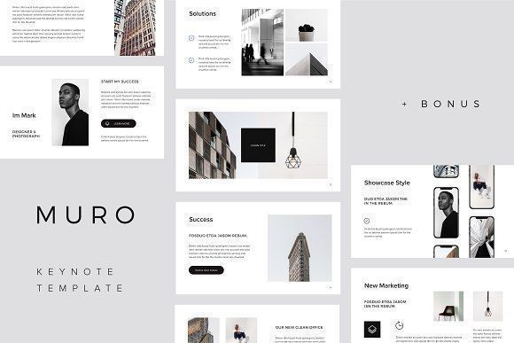 MURO  Keynote Template  Big Bonus MURO  Keynote Template  Big Bonus by PixaSquare on creativemarket