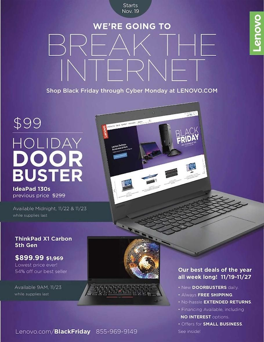 Lenovo Black Friday 2018 Ads and Deals Black friday