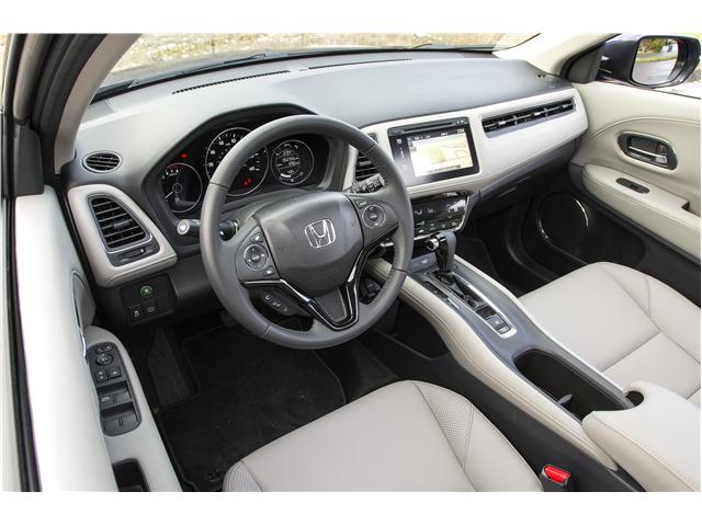 2017 Honda Hr V Ex Awd Cvt Ex Trim Starts At 21 515 And Adds A Moonroof A Proximity Key Heated Front Seats Push Button Honda Hrv Interior Honda Hrv Honda