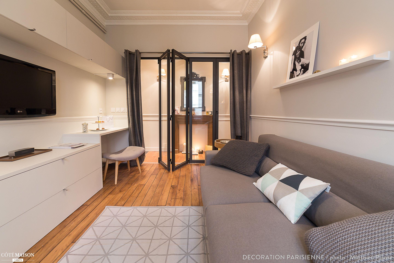 Nouvel espace salon et chambre Paris Canal Saint Martin 47m2