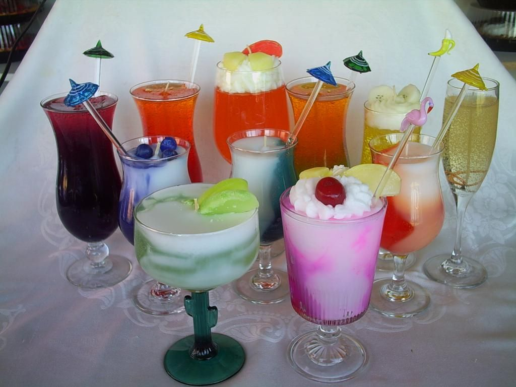 Mixed Drink Candles By Delightful Candle Designs