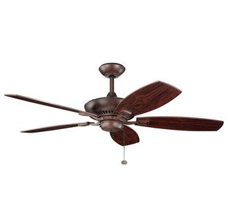 "View the Kichler 300117 Canfield 52"" Indoor Ceiling Fan with 5 Blades - Includes 6"" Downrod at Build.com."