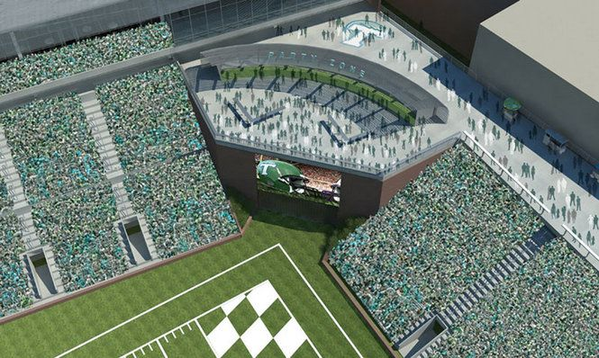 5af797b2c Tulane University Green Wave - party deck at proposed on-campus football  stadium.