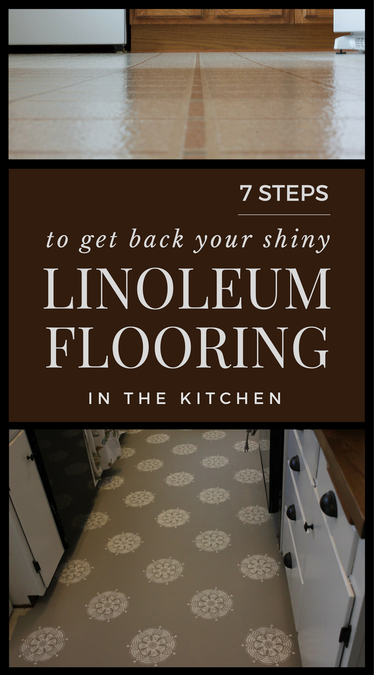Steps To Get Back Your Shiny Linoleum Flooring In The Kitchen - Shiny lino flooring
