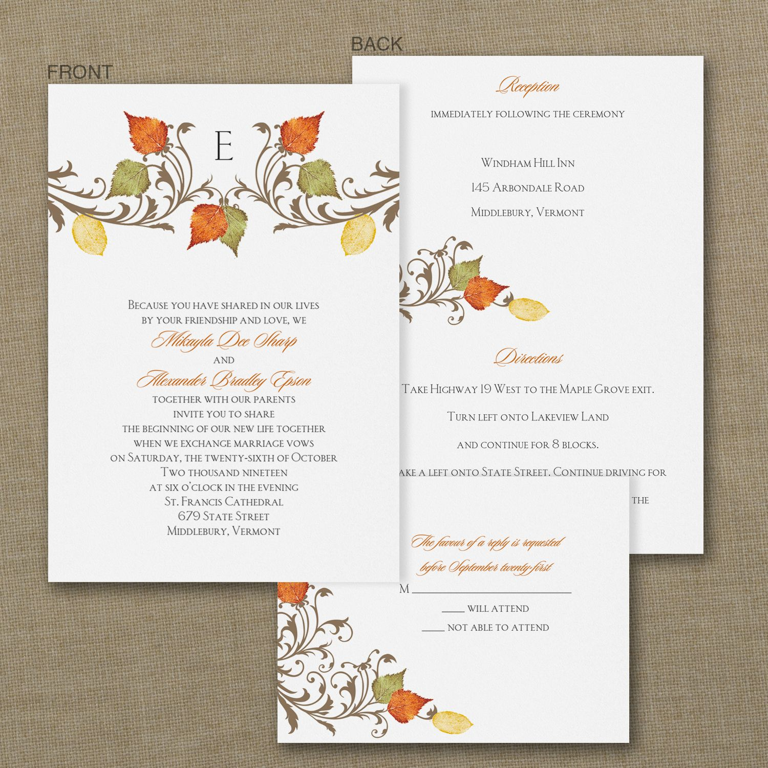 Fall In Love - ValStyle Invitation. Available at Persnickety ...