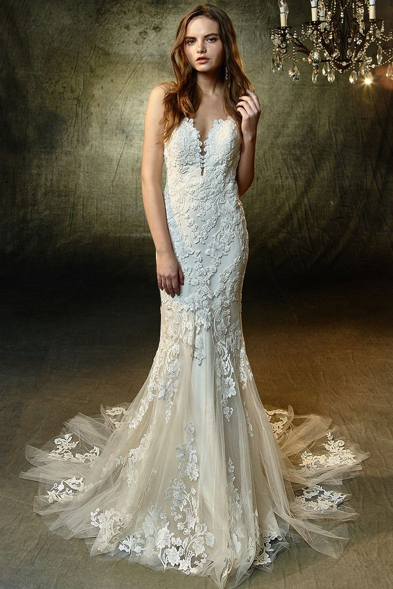 Wedding Dress Out Of Blue By Enzoani Lilac Silhouette Mermaid Neckline Swee Enzoani Wedding Dresses Wedding Dress Shopping Backless Mermaid Wedding Dresses [ 1200 x 800 Pixel ]