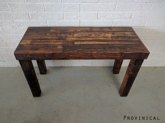reclaimed wood provincial modern rustic desk work by KaseCustom