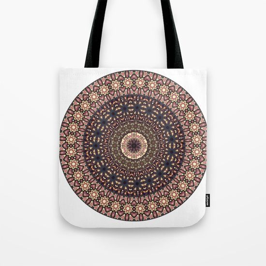 Colorful abstract ethnic floral mandala pattern design Tote Bag