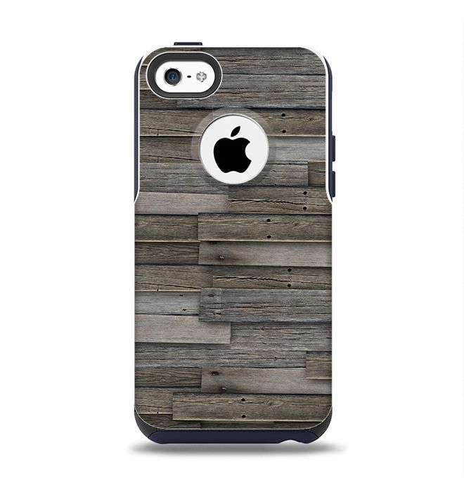 The Overlapping Aged Planks Apple iPhone 5c Otterbox Commuter Case Skin Set
