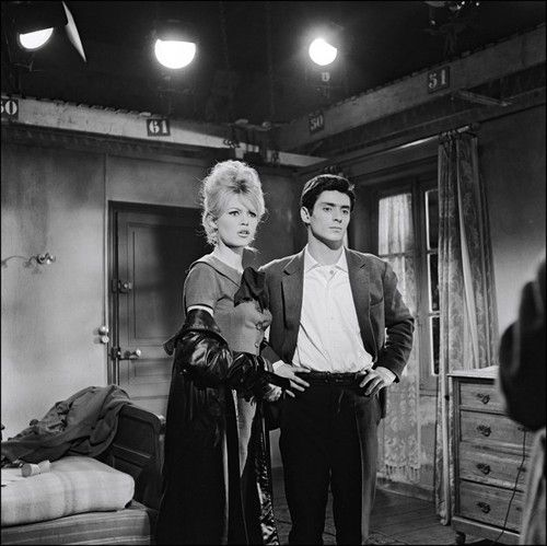 Brigitte Bardot and Sami Frey filming La Verité
