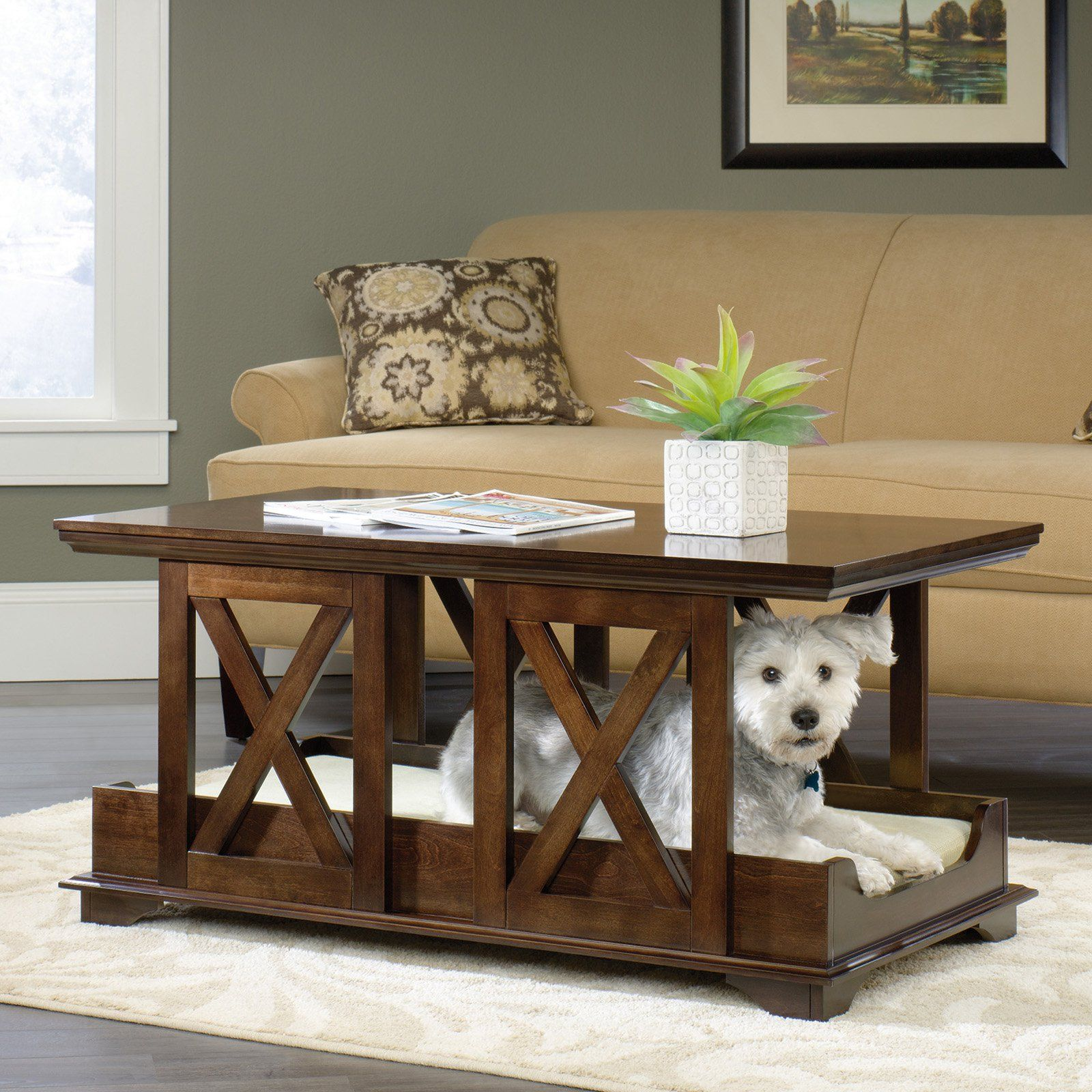 small dog furniture. Sauder Coffee Table Pet Bed - Welcome Your Pup Into All Areas Of Home With Small Dog Furniture S
