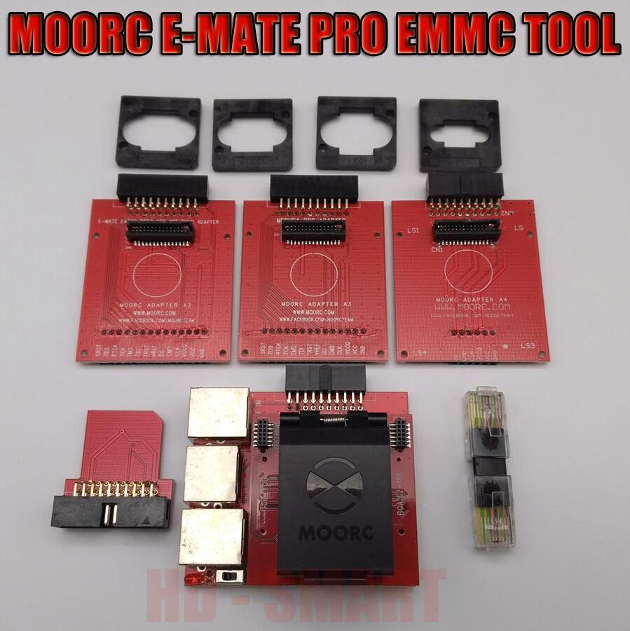 New MOORC E-MATE PRO BOX E MATE E-Socket EMMC TOOL all in 1