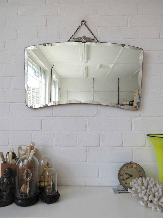 Vintage Large Bevelled Edge Wall Mirror Art Deco By Uulipolli Miroir
