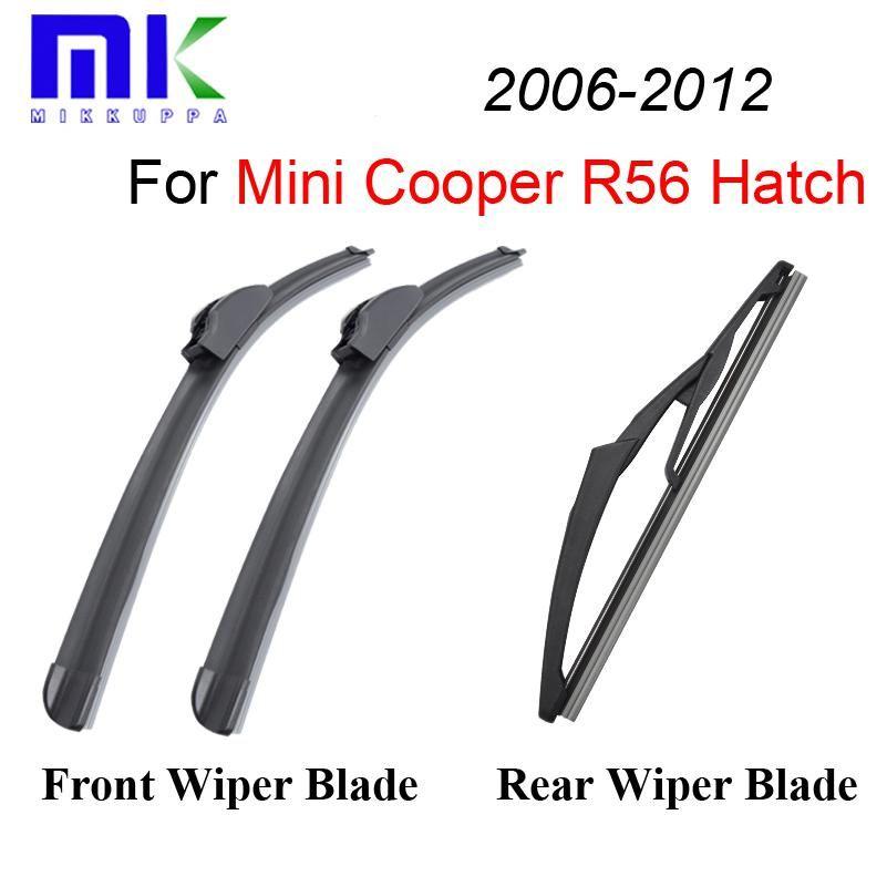 Front And Rear Wiper Blades For Mini Cooper R56 Hatch 2006 2007 2008 2009 2010 2011 2012 Windshield Windscreen C Windscreen Wipers Wiper Blades Car Accessories