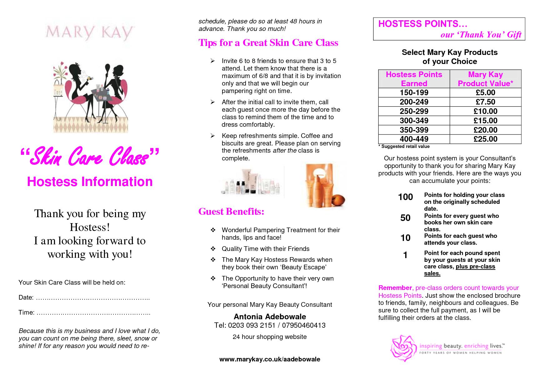 Free Print Mary Kay Flyers