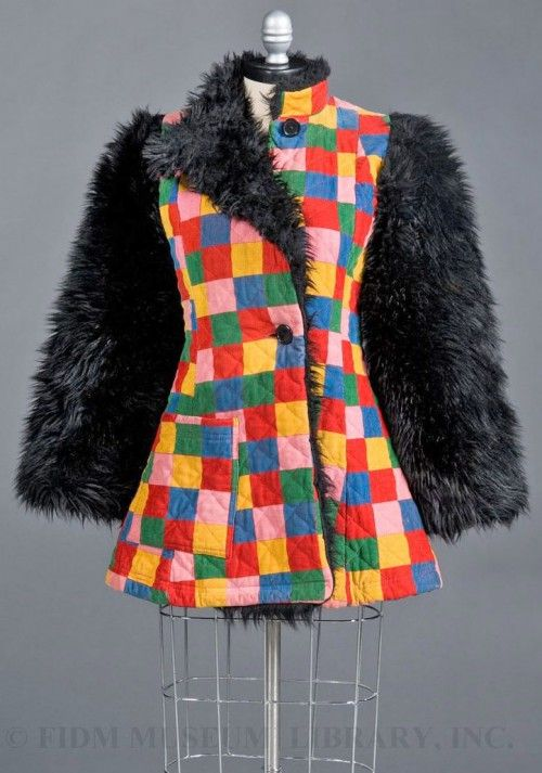 BETSEY JOHSON Quilted corduroy jacket for Alley Cat, 1971.