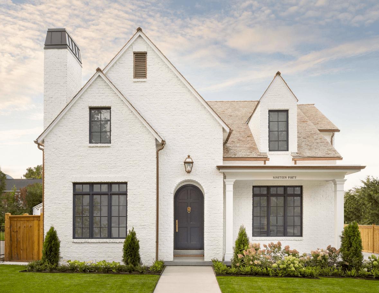 The Fox Group Modern Tudor Black Windows In 2020 House