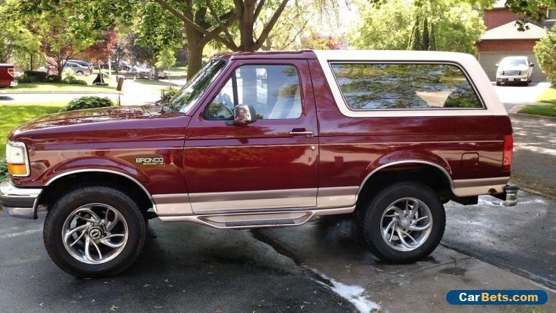 Car For Sale Ford Bronco Eddie Bauer