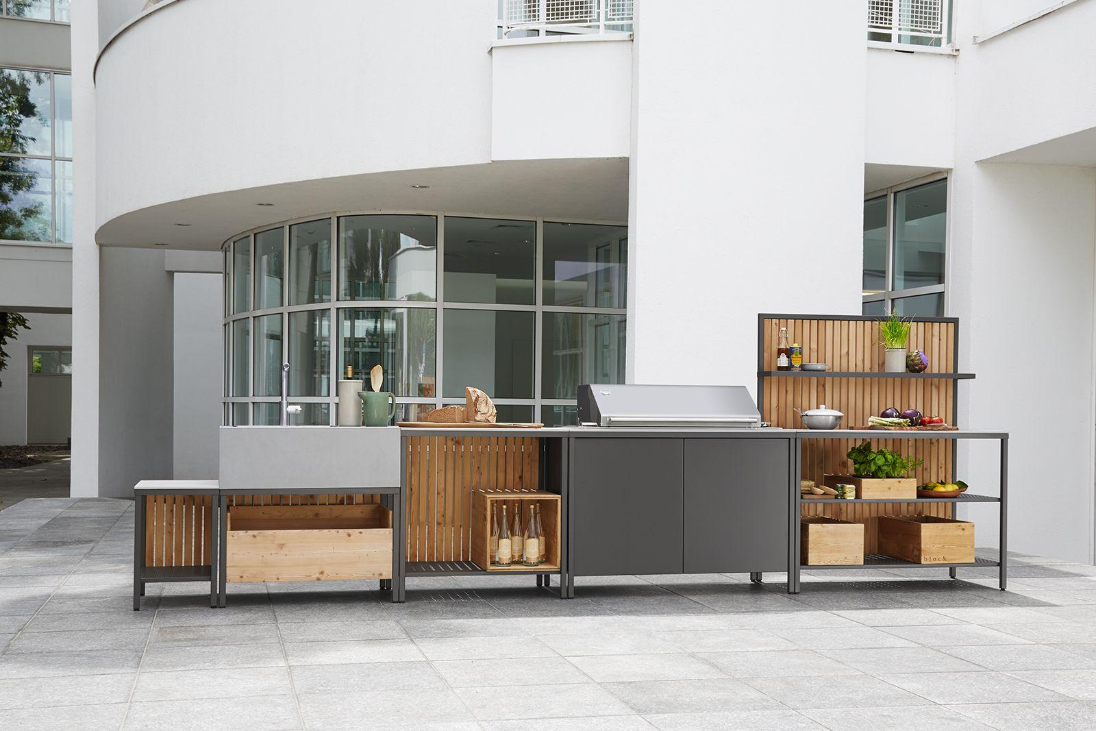 block Aussenküche Sebastian Herkner | Outdoor Küche | Pinterest ...