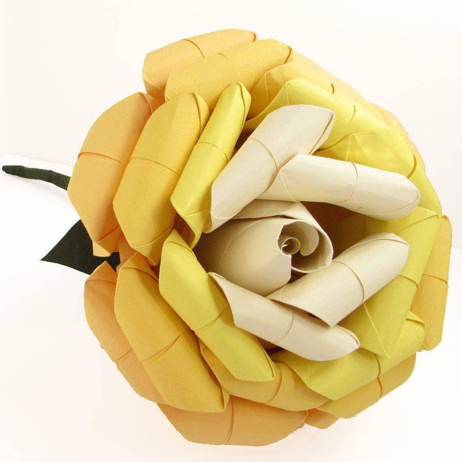 Origami Paper Rose Bouquet | Paper roses, Origami rose, Rose wedding bouquet