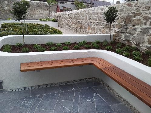 Pin By Melanie Roberts On Outdoors Landscaping Retaining Walls Easy Landscaping Built In Garden Seating