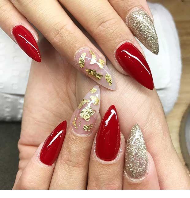 гаджет острые ногти с красным дизайном фото известно уже