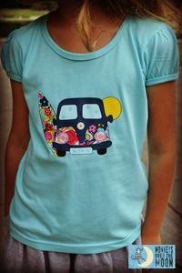 Printed Camper Van Shirt for Girls - Preorders