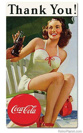 Coca Cola Thank You Magnets | Magnets | RetroPlanet.com