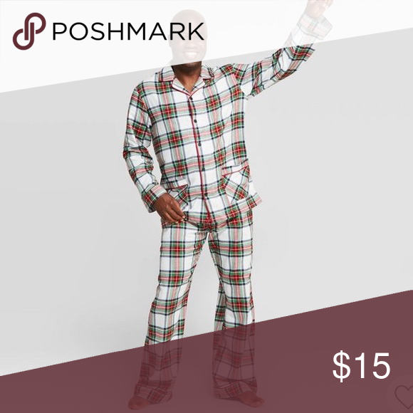 Men's Plaid Family Christmas Pajamas Worn and washed once